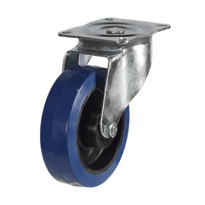 125mm Unbraked Swivel Castor Wheel Synthetic Rubber