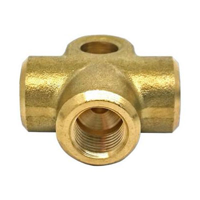 Empi 3 Way Equal Brass Tee Piece M10 x 1.00