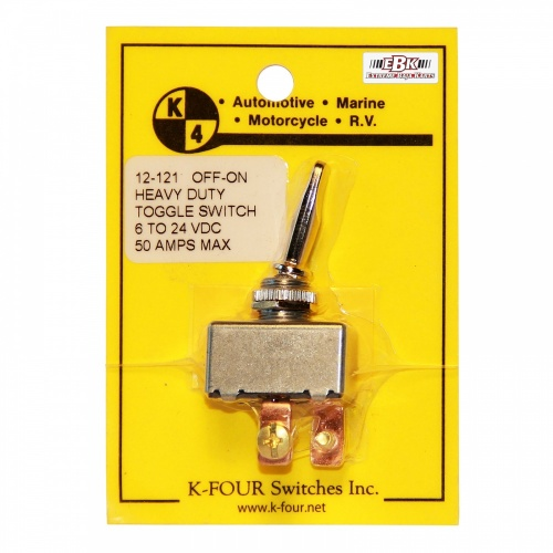 K-Four Heavy Duty 50A On Off Toggle Switch