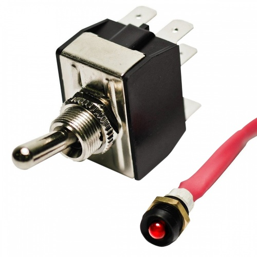K-Four 12v Disable Switch with Flashing LED