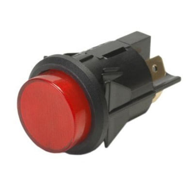 K-Four Red Illuminated Push-On Push-Off Switch