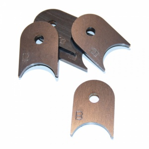 Wishbone Mounting Tab with 3/8 Inch Hole for 1.5 Inch Tube