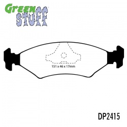 EBC Greenstuff DP2415 Brake Pad Set