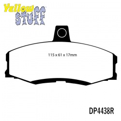 EBC Yellowstuff DP4438R Brake Pad Set