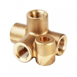 Goodridge Metric 4 Way Brass Brake Tee Piece