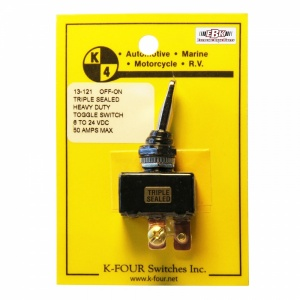 K-Four Heavy Duty 50A Triple Sealed On Off Toggle Switch