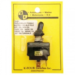 K-Four 20 Amp Triple Sealed Toggle Switch Off-On-Mom