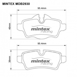 Mintex MDB2930 Competition Brake Pads M1144 Compound