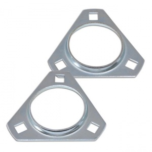 RHP Triangular 30mm Axle Bearing Mounting Flanges